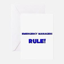 Emergency Managers Rule! Greeting Cards (Pk of 10)