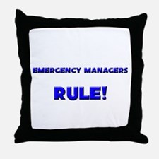 Emergency Managers Rule! Throw Pillow