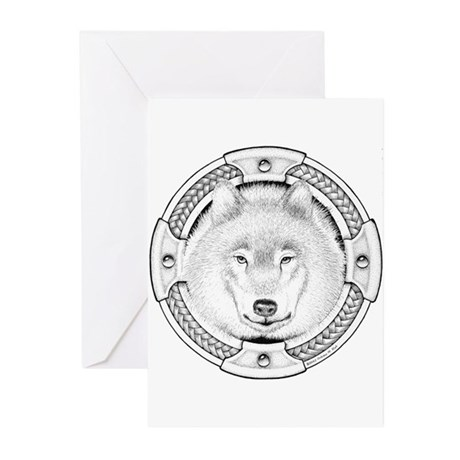 Ink Wolf Totem Greeting Cards (Pk of 10)