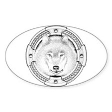 Ink Wolf Totem Oval Decal