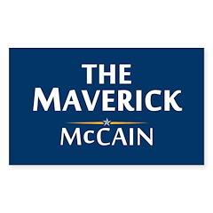 The Maverick - John McCain Rectangle Decal