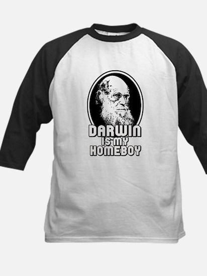 Darwin is my Homeboy Kids Baseball Jersey