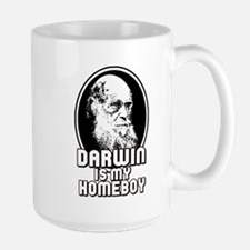 Darwin is my Homeboy Large Mug