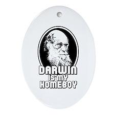 Darwin is my Homeboy Ornament (Oval)