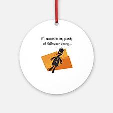 Funny Halloween Ornament (Round)