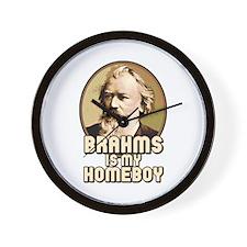 Brahms Is My Homeboy Wall Clock