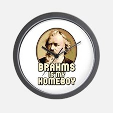 Brahms Is My Homeboy Wall Clock
