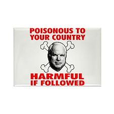 Poisonous McCain Rectangle Magnet