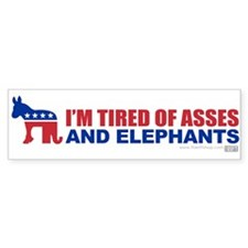 Asses and Elephants Bumper Bumper Sticker