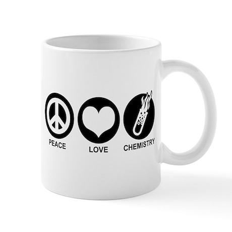 Peace Love Chemistry Mug
