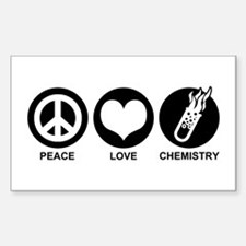 Peace Love Chemistry Rectangle Decal