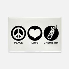 Peace Love Chemistry Rectangle Magnet