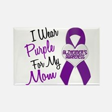 I Wear Purple For My Mom 18 (AD) Rectangle Magnet