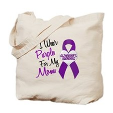 I Wear Purple For My Mom 18 (AD) Tote Bag