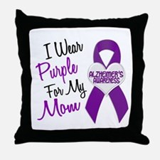 I Wear Purple For My Mom 18 (AD) Throw Pillow