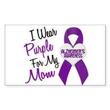 I Wear Purple For My Mom 18 (AD) Decal