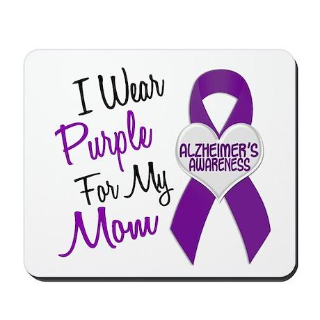 I Wear Purple For My Mom 18 (AD) Mousepad