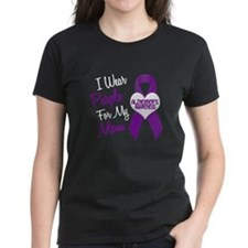 I Wear Purple For My Mom 18 (AD) Tee