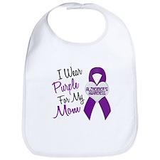 I Wear Purple For My Mom 18 (AD) Bib