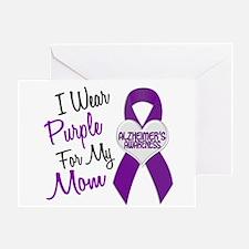I Wear Purple For My Mom 18 (AD) Greeting Card