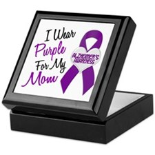 I Wear Purple For My Mom 18 (AD) Keepsake Box