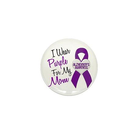 I Wear Purple For My Mom 18 (AD) Mini Button