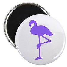 Dark Purple Flamingo Magnet