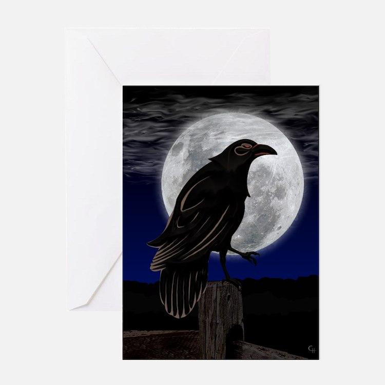 Raven's Moon Blank Greeting Card