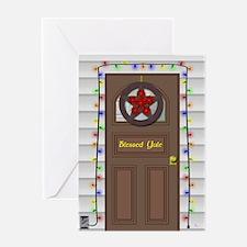 Blessed Yule Door Greeting Card