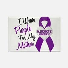 I Wear Purple For My Mother 18 (AD) Rectangle Magn