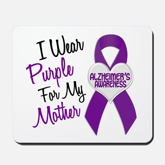 I Wear Purple For My Mother 18 (AD) Mousepad