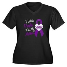I Wear Purple For My Mother 18 (AD) Women's Plus S