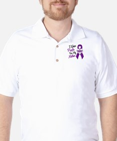 I Wear Purple For My Mother 18 (AD) Golf Shirt