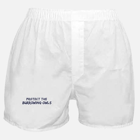 Protect the Burrowing Owls Boxer Shorts