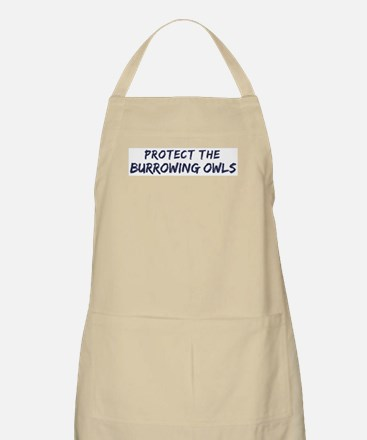 Protect the Burrowing Owls BBQ Apron