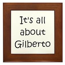 Funny Gilberto Framed Tile