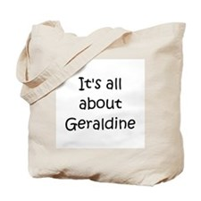 Unique Name geraldine Tote Bag