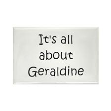 Cute Name geraldine Rectangle Magnet