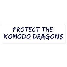 Protect the Komodo Dragons Bumper Bumper Sticker
