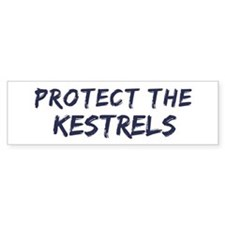 Protect the Kestrels Bumper Bumper Sticker