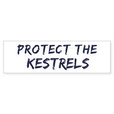 Protect the Kestrels Bumper Car Sticker