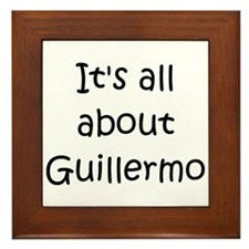 Funny Guillermo Framed Tile