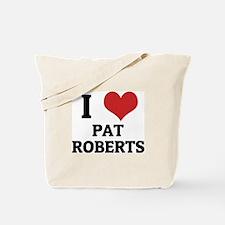 I Love Pat Roberts Tote Bag