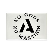 No Gods No Masters Rectangle Magnet
