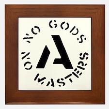 No Gods No Masters Framed Tile