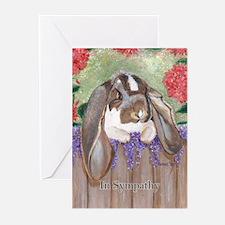 English Lop Rabbit Sympathy Cards (Pk of 20)
