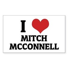 I Love Mitch McConnell Rectangle Decal