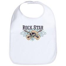 Rock Star Guitars Skulls Bib