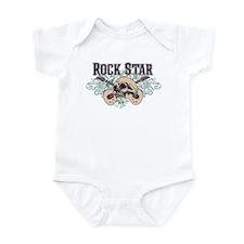 Rock Star Guitars Skulls Infant Bodysuit