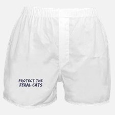Protect the Feral Cats Boxer Shorts